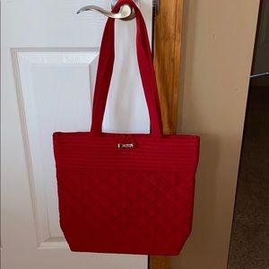 Vera Bradley tote shoulder bag handbag tango red.